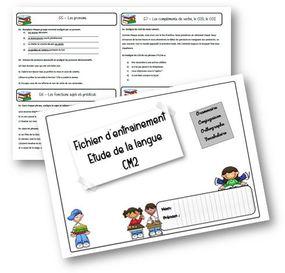 Fichier de leçons de français CM2  programmes 2017