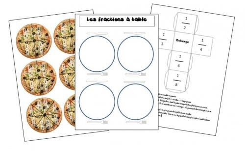 Les fractions table quivalences entre fractions la - Fraction cm1 a imprimer ...