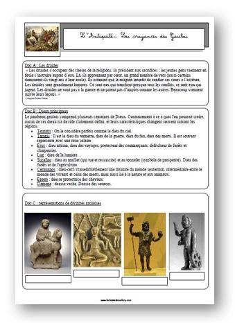 Et Avant La France Croyances De L Antiquite La Classe De Mallory