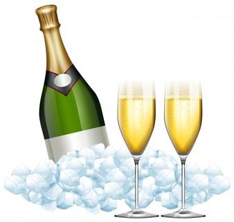 deux-verres-de-champagne-et-de-bouteille-dans-l-39-illustration-de-glace_1308-1164