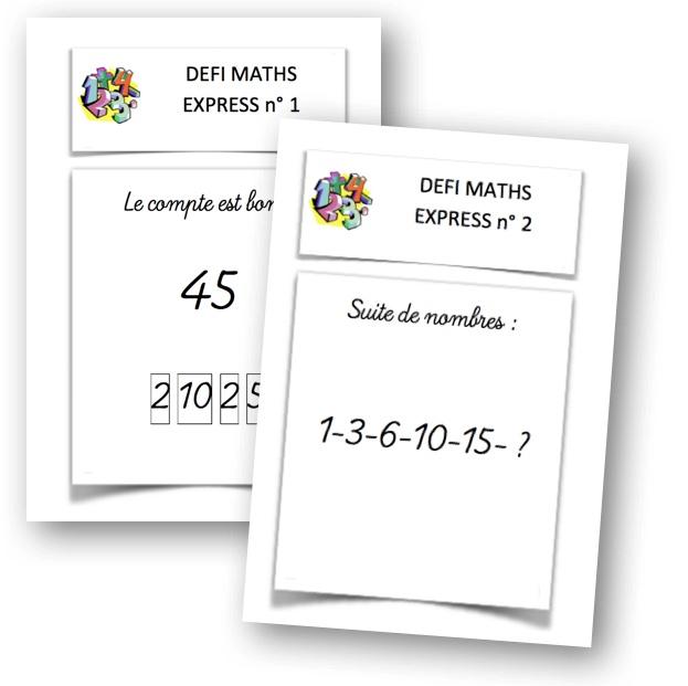 Extrêmement Défi maths express… – La classe de Mallory VB46