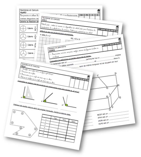 Evaluations maths CM2 - La classe de Mallory